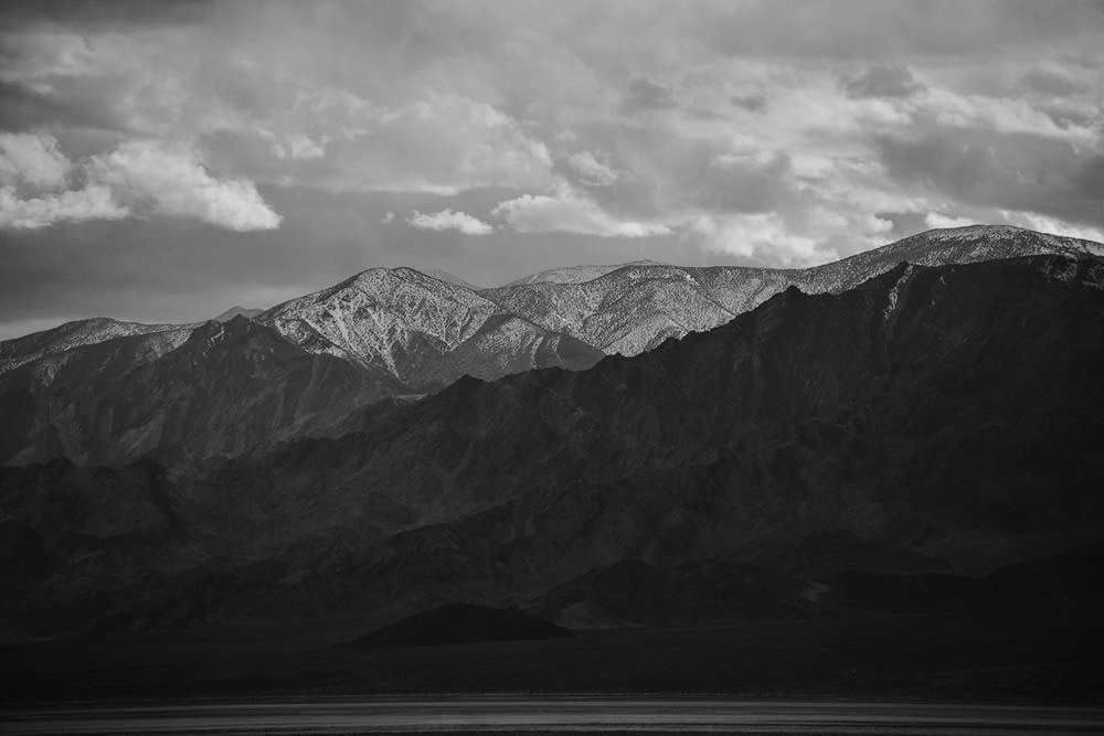 Black & White Mountains Photographic Print - Wall Art by Deb Boots