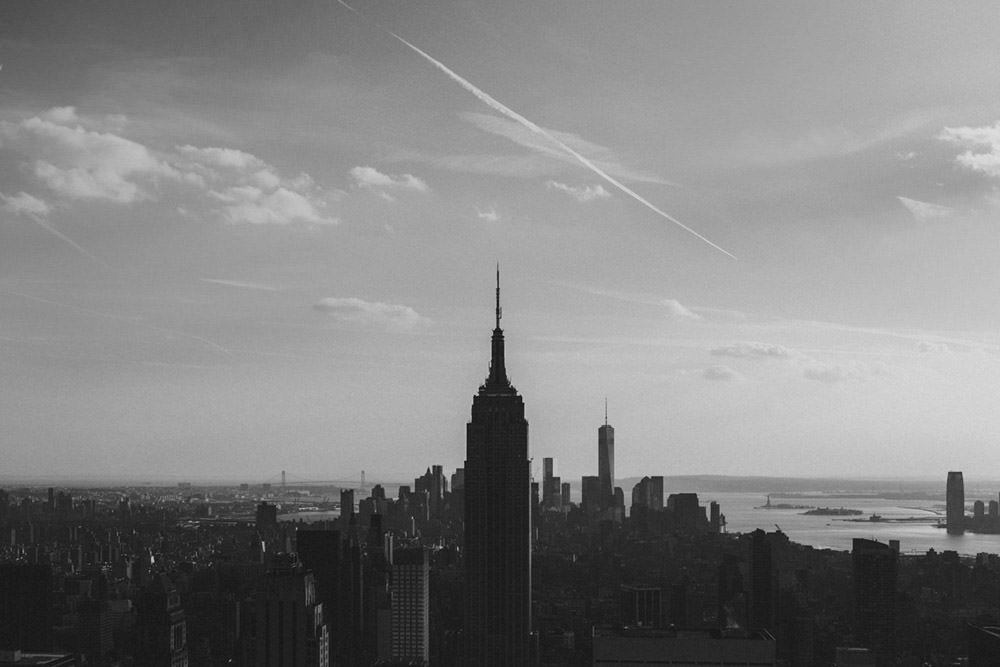 Empire State Building in B&W Photographic Print - Wall Art by Deb Boots