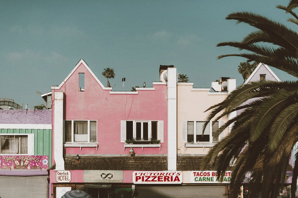 Pizzeria on Venice Beach - Photographic Print - Wall Art by Deb Boots