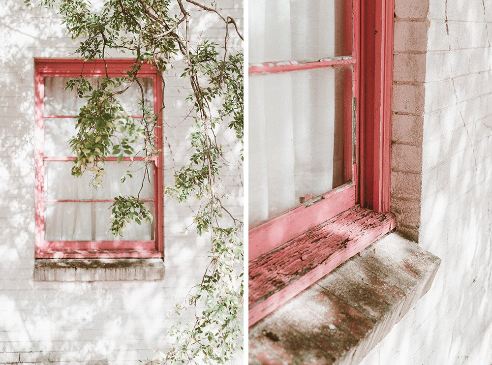Abandoned Building with pink window in the Southern Highlands