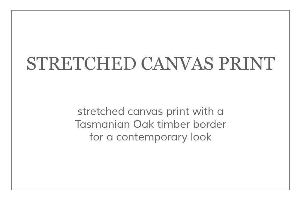 Photographic Print - Stretched Canvas Art Print - Wall Art - Canvases come stretched around a timber frame with a Tasmanian Oak timber border for a contemporary look