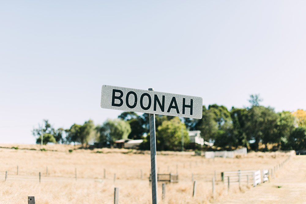 Boonah Road Sign - Travel Photographer Deb Boots