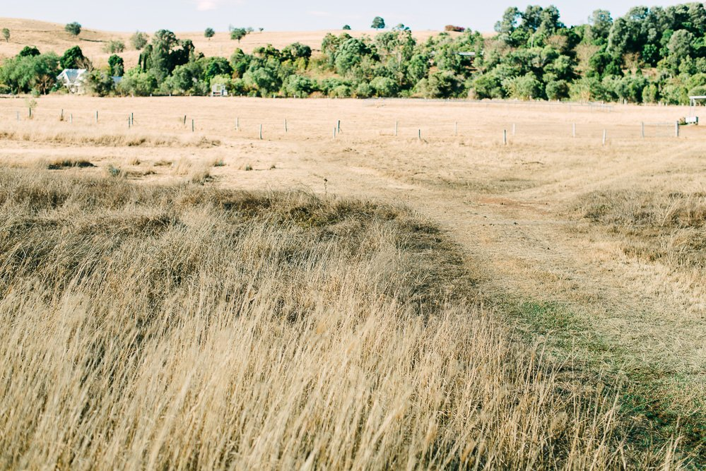 countryside paddock with Old Church Boonah in far distance - Travel Photographer Deb Boots