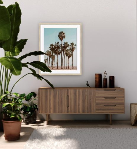 Art Print of Palm Trees hanging in apartment